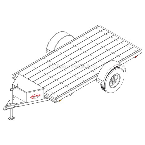 5' x 10' Utility Trailer Plans Blueprints - 3,500 lb Capacity |