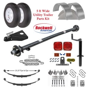 5ft Utility Trailer Parts Kit - 3,500 lb Capacity