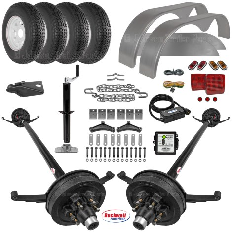 Tandem Axle Trailer Parts Kit - 10.4k Capacity