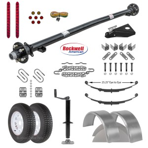 "6' 10"" Utility Trailer Parts Kit - 3.5k - Model U82-144-35J"