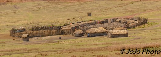Maasai Village near the Ngorongoro Crater