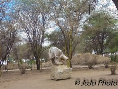 Elephant Skull (picnic area) at the entrance of Tarangire National Park Ranger Station