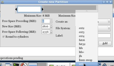 Partition, format and resize your Windows or Linux