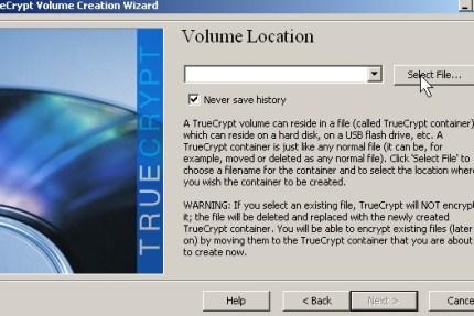Click select file button