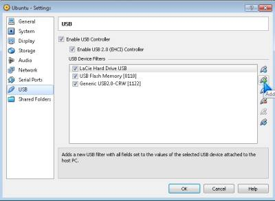 USB settings for your Virtual Machine in Virtual Box!