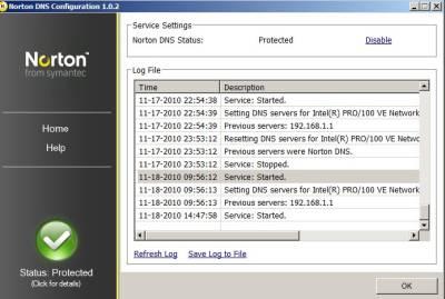 Norton DNS client