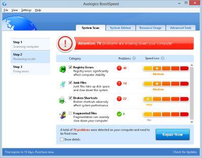 Auslogic BoostSpeed 5.5.1