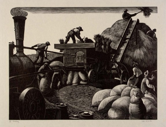Threshing by Clare Leighton