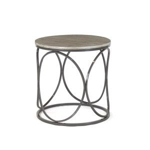 Helena End Table - Wood Top