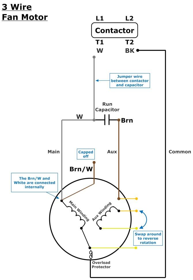 3 or 4 wire condenser fan motor wiring – johnstone supply