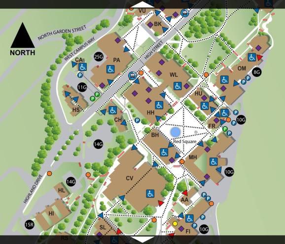 Washington High School Accessibility Map.