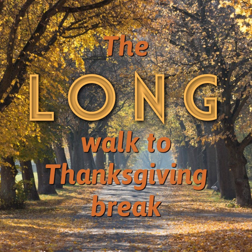The Long Walk to Thanksgiving