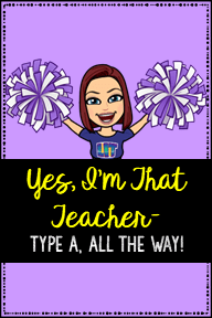 Type A Teacher Pin