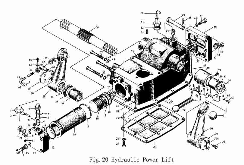 tractor hydraulic system diagram