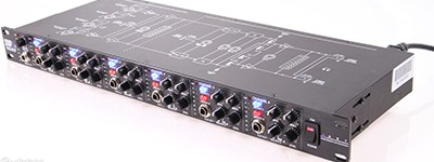 Tucked into the back of the box is this six-channel headphone amp.   Allows two pairs of headphones per channel to accommodate large bands. Also allows personalised mixes on four channels to aid clarity for individual performers when tracking.