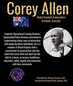 Corey Allen - Global Goodwill Ambassador