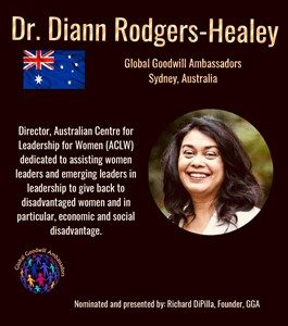 Dr. Diann Rodgers-Healey - Global Goodwill Ambassador