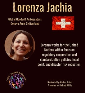 Lorenza Jachia - Switzerland - Global Goodwill Ambassador