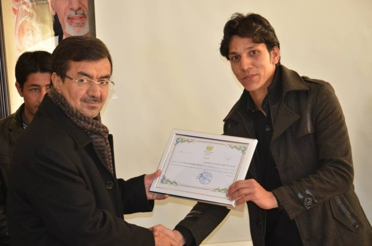 Appreciated by Province Governor for Human Rights protests - Zubair Ahmad Khugyani - Global Goodwill Ambassador GGA Afghanistan