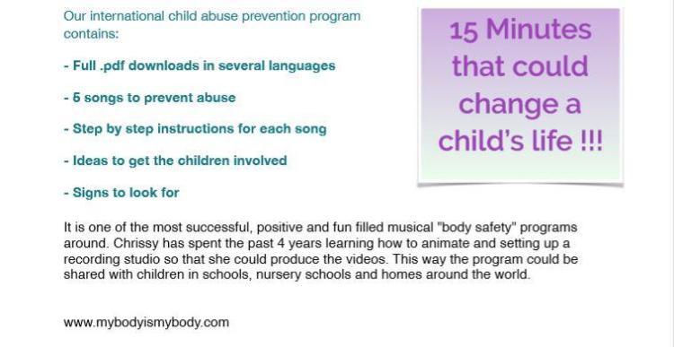 Chrissy Sykes - GGA England - and her international child abuse prevention program --
