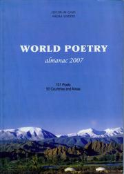 Cover of World Poetry almanac 2007 by Sendoo Hadaa