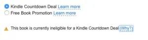 Amazon KDP Select Promotion options