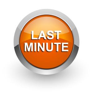 last minute orange glossy web icon
