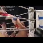 病院送り・・プロレスラーが総合格闘技でK1ファイターに蹴られまくる!!! #スポーツニュース #followme