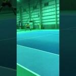 レッツ!インドアテニススクール博多店 野村コーチ 練習試合 #スポーツニュース #followme