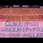 【映像分析】[テニス]ダニエル太郎選手とジャジリ選手のラリー中のボールを残像表示 #スポーツニュース #followme