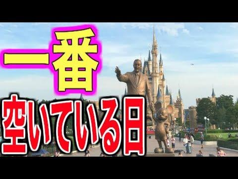 【決定】ディズニーの一番空いている日はこの日だ!【キャストさんへのインタビュー有り】 #ディズニー #Disney #followme