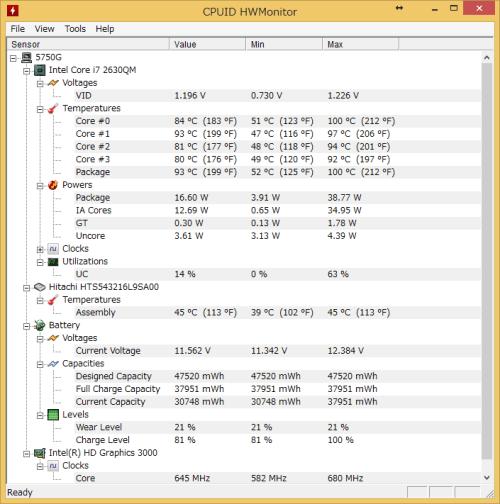 CPUtemperatures
