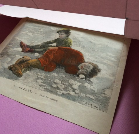 after A. Aublet, Sur le sable, woodengraving