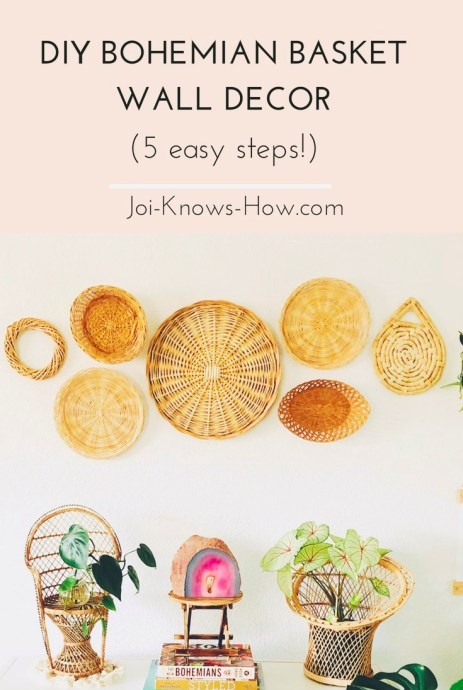 A step-by-step guide for creating your own bohemian basket wall décor