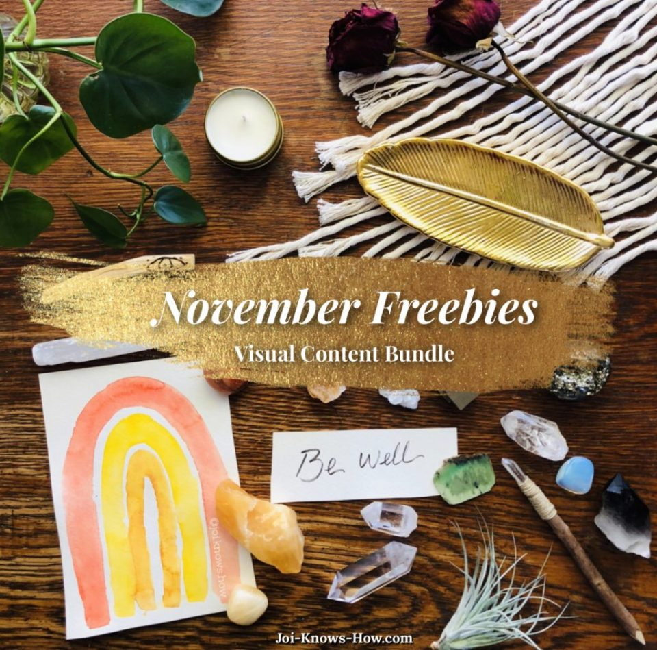Beautiful FREE curated visual content bundle for November
