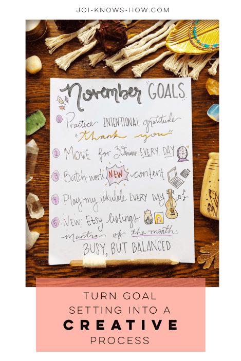 The Creative Art of Goal Setting