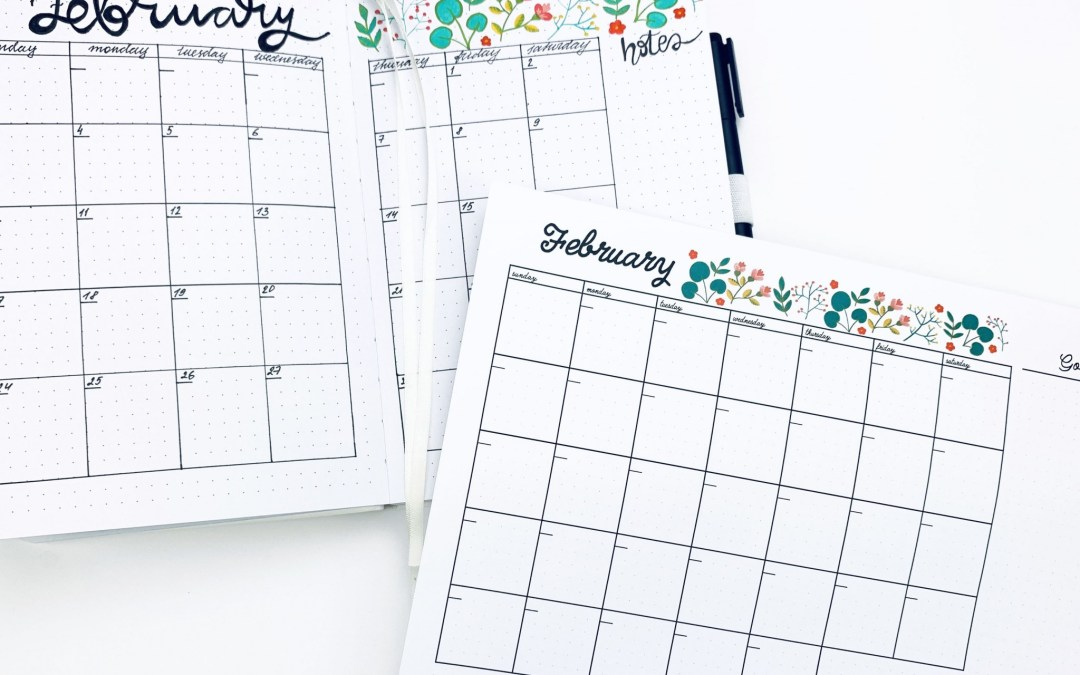 FREEBIE – February Monthly Plan