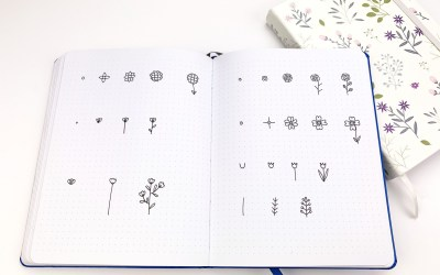 YOU TOO CAN! Make stunning bullet journal floral spreads in 10 minutes with 7 easy flower doodling.