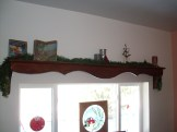 Christmas Decorations, Dining Room Shelf Above Window, Mom's - Christmas 2008