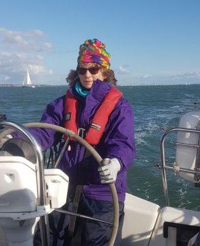 Davina at the Helm Sailing