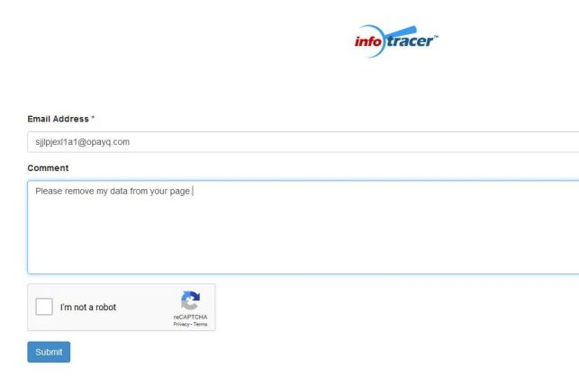 How to Remove Yourself from InfoTracer opt out removal