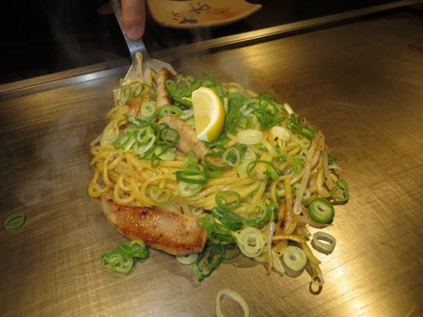 Pork and leek noodles