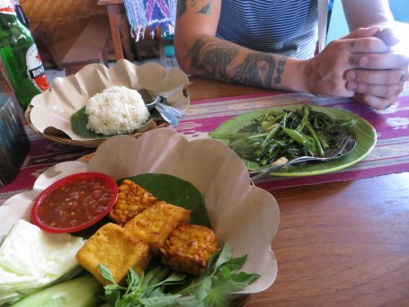 Tofu and Fried Soya Beans £1