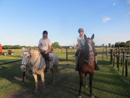 With our horses