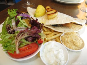 Greek food at Manly beach