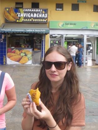 Eating empanadas