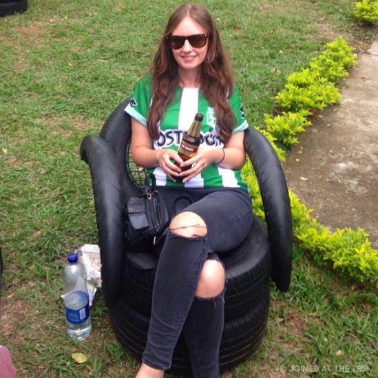 Kitted out for the Atletico Nacional game