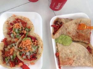 Tacos and burritos al pastor