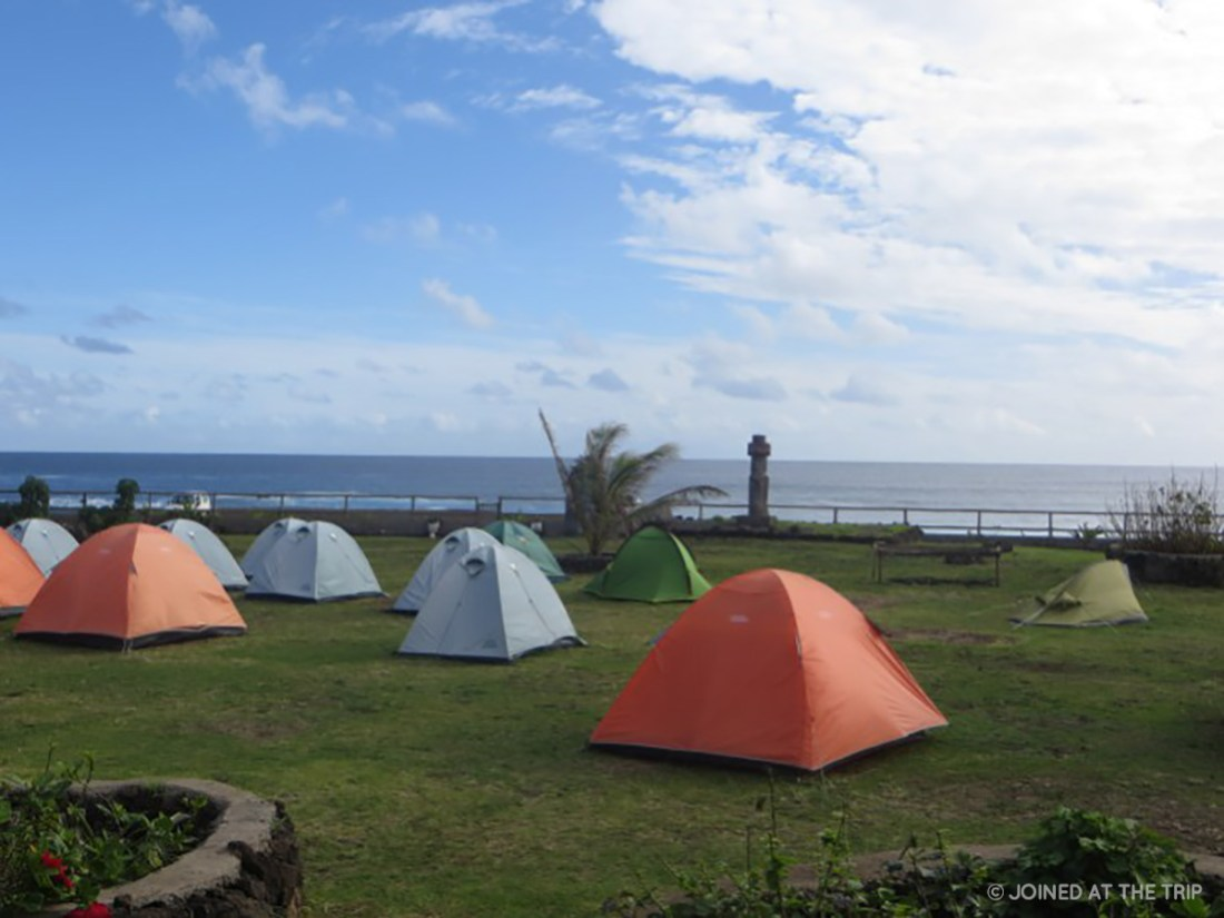 Tents at Camping Mihinoa on Easter Island