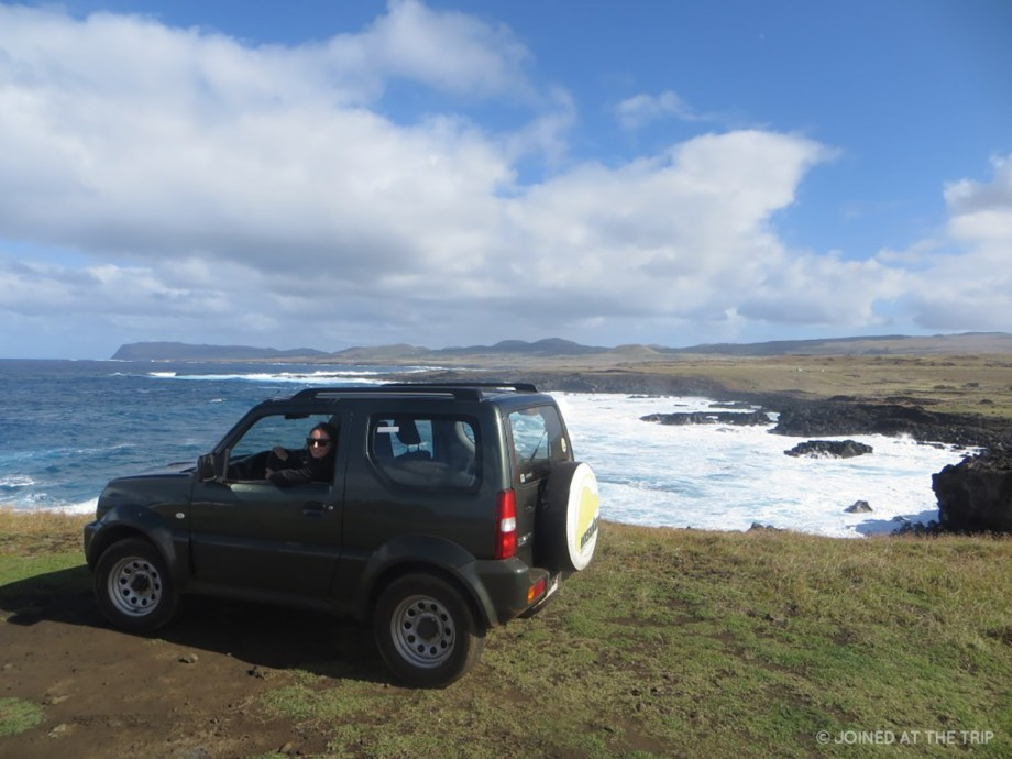 Driving a jeep on Easter Island